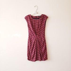 HP🎉 Zara Bird Print Clinched Front Dress XS